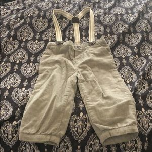 Janie and Jack suspender pants  12-18 months